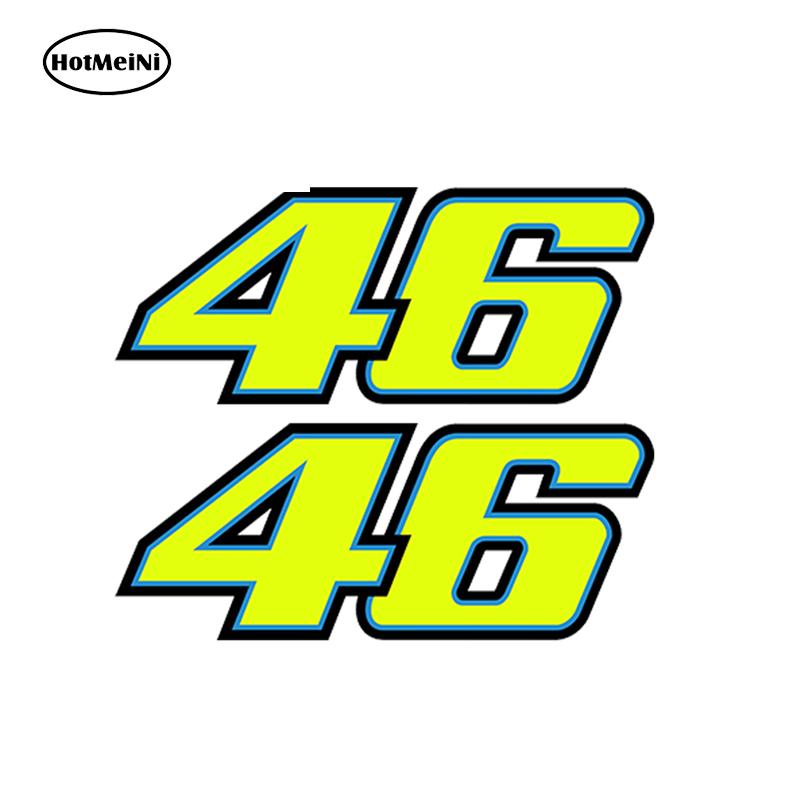 Autocollant De Voiture 3d Nombre 46 Valentino Rossi Moto Le