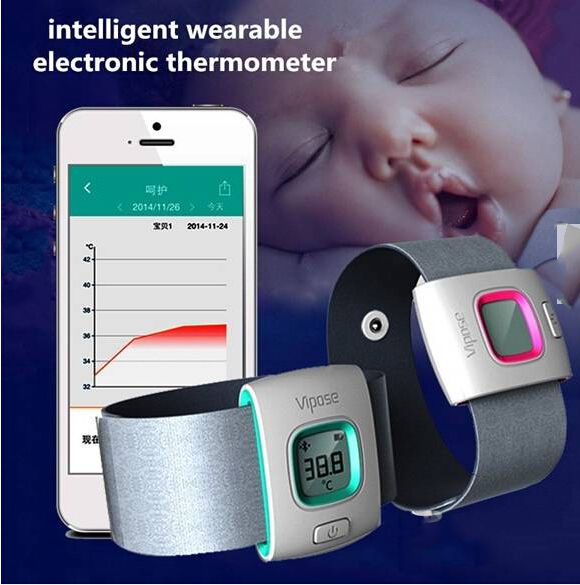 iFever Intelligent Wearable Safe Soft Thermometer Bluetooth Smart Baby Monitor