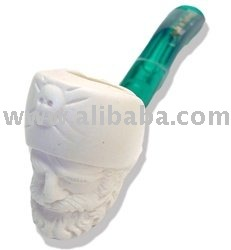 Mini Hand Carved Pirate Head Meerschaum Pipes