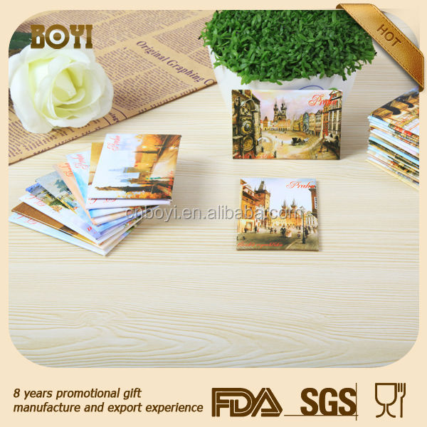 2017 hotsale OEM souvenir tourist singapore paper+tin+soft magnet tinplate fridge magnet