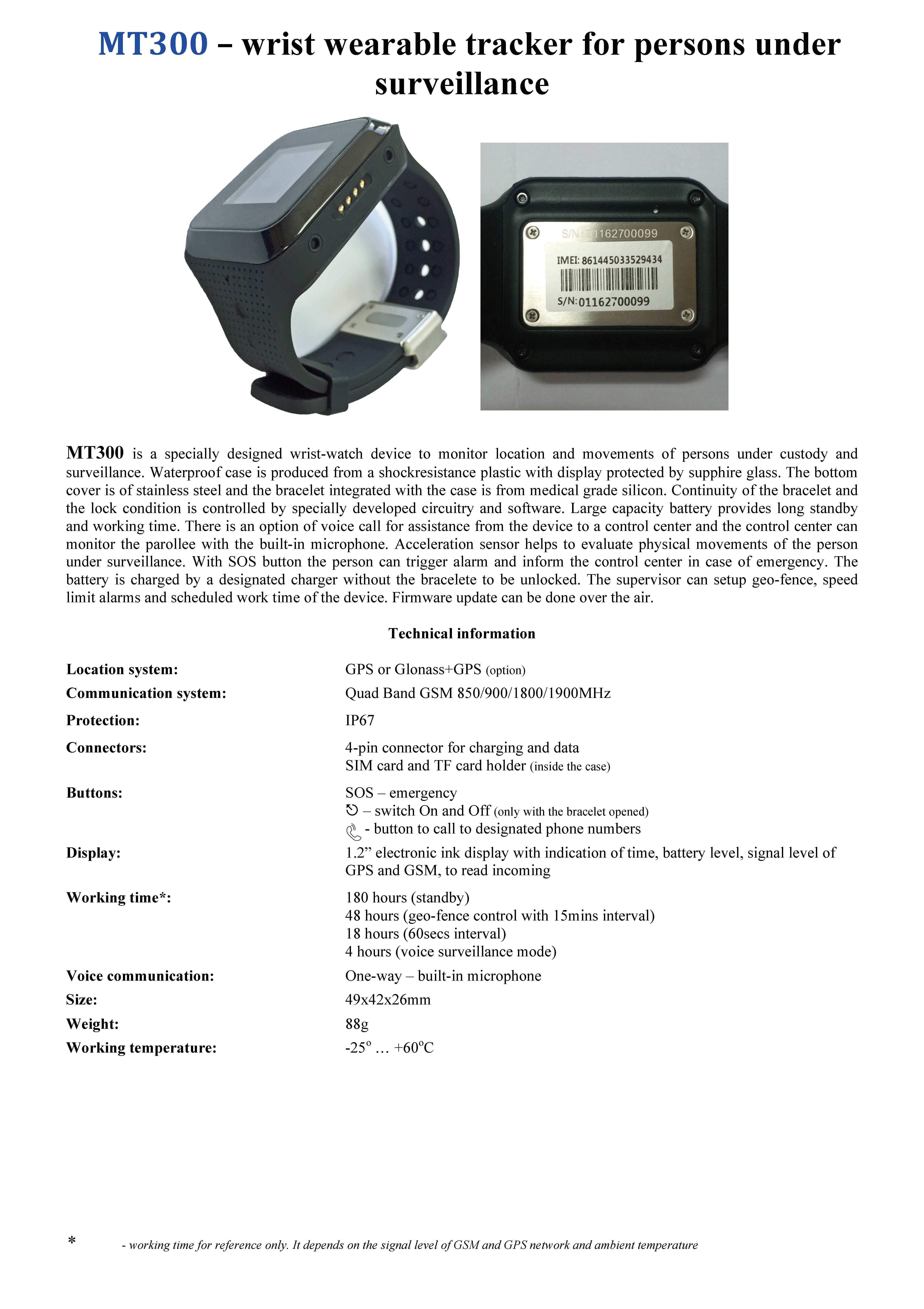 GPS House Arrest Ankle Bracelet Waterproof MT-60X
