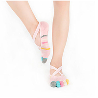 Fashion women multicolor five toe socks newest candy color hot teen girls socks with band