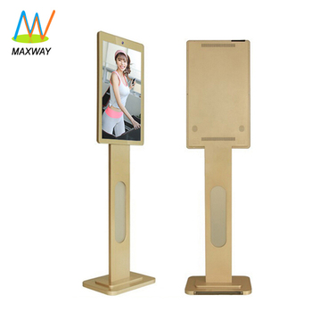 "27"" Fitness Center/Club/Room/Shopping Mall Free Standing Ads Video Display Tv Kiosk"