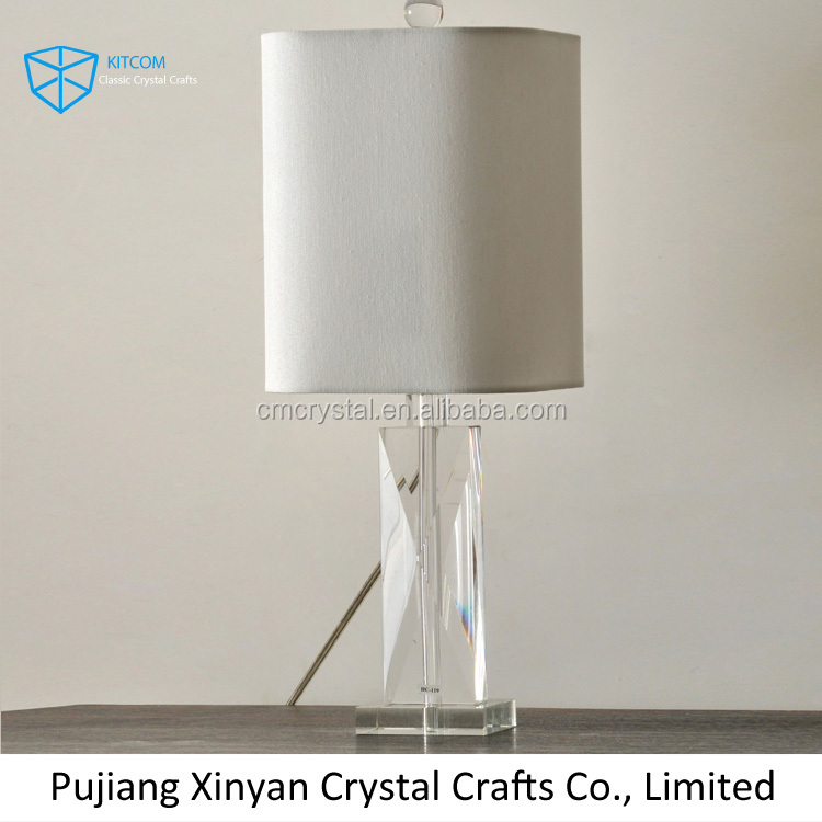 2016 new design crystal table lamp for home decoration