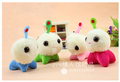 Special lovely 10pcs 7cm small cartoon movie CJ7 plush phone pendant bag chain accessories stuffed toy