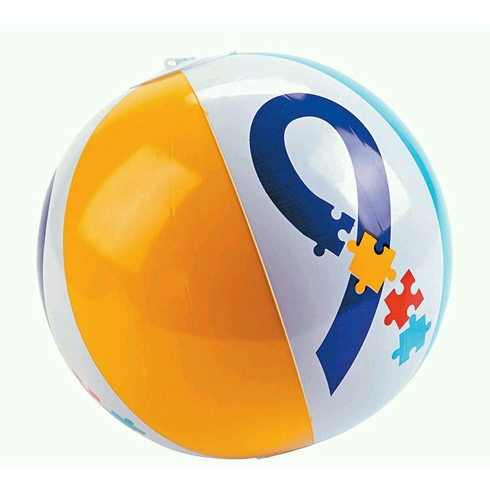 "11"" AUTISM AWARENESS INFLATABLE BEACH BALL AUTISM BALL AUTISM TOY PARTY FAVOR"