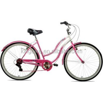 Sunrace 6 Speed Beach Bike Pink Girls Beach Cruiser Bike Beach