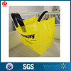 Large loop handle HDPE bag stand up poly bag shopping plastic bags