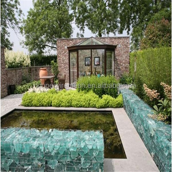 Jard n de piedra muro de gaviones caja de malla de alambre for Solados para jardines