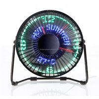 Desktop USB Led Clock Fan USB Light Fan Desk Message Fan Factory Price with CE,ROHS Certificate