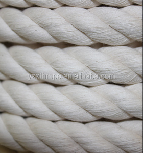 "Durable solid 2"" thick cotton rope 3 Strand or braided structure"