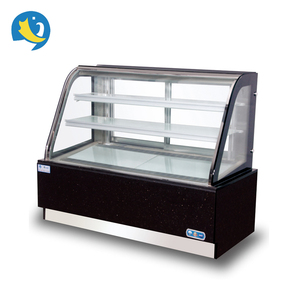 Hot sale CE standard new design curved glass marble pastry display showcase bakery showcase