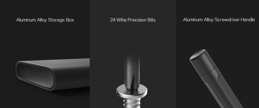 Original Xiaomi Mijia Wiha Daily Use Screwdriver Kit 24 Precision Magnetic  Bits Aluminum Magnetic Box Wiha Diy Screw Driver Set - Buy Screw Driver