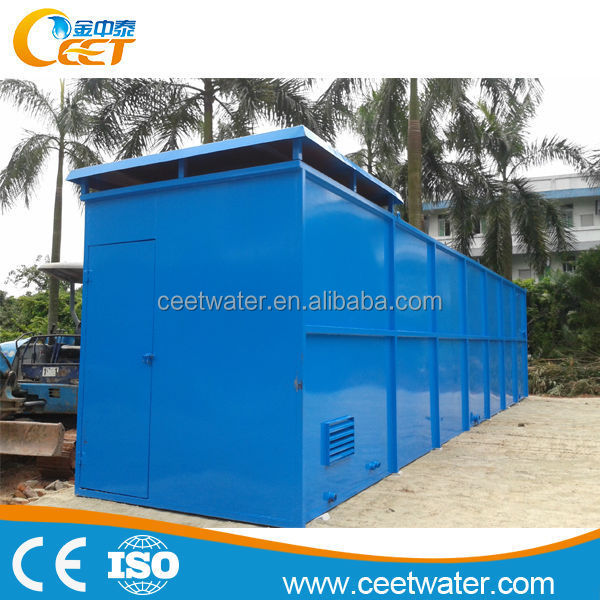 zero space industrial sewage water treatment machine/plant with biological treatment