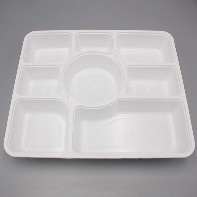 Microwave 8 칸 일회용 플라스틱 식품 container 와 divider lunch box 와 lid