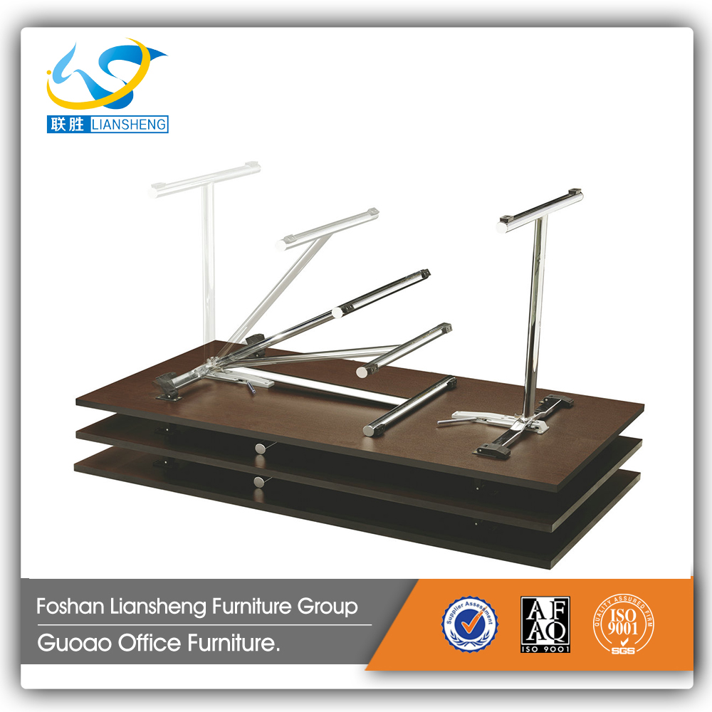 Folding leg desk combined conference table with stainless steel leg manufacturer