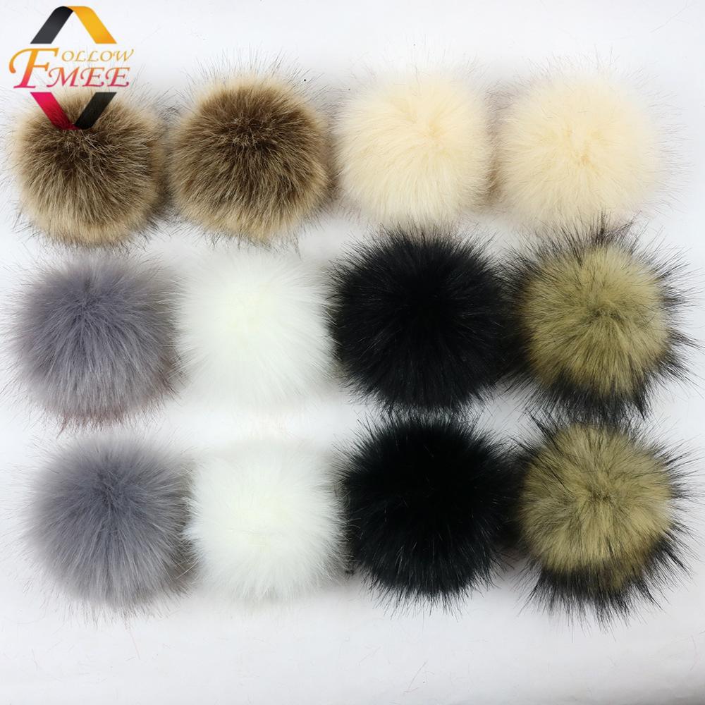 Faux Fox Fur Pompon Top garde faux fur pompom fake pom poms faux fox fur ball