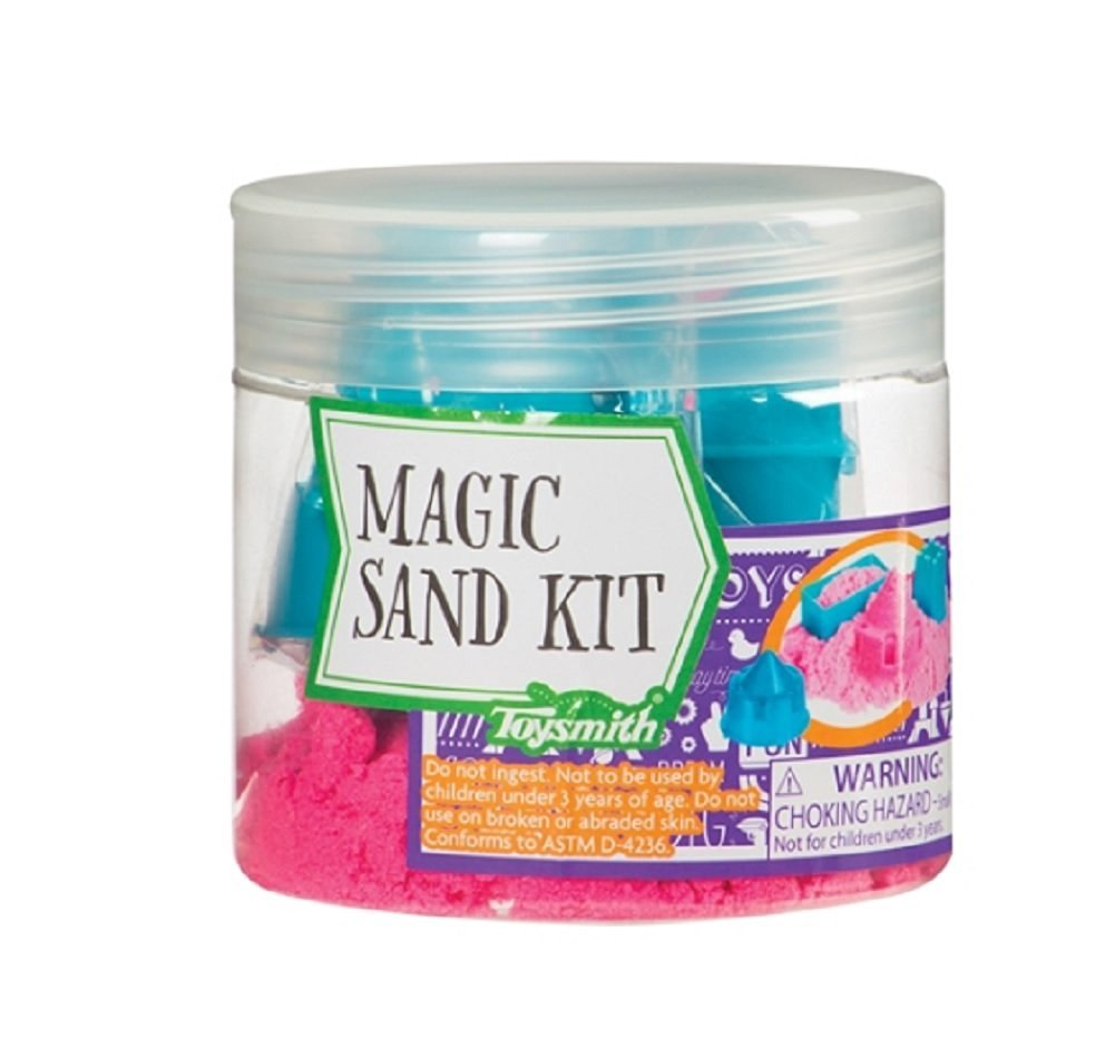 Magic Kinetic Pink Sand Kit with Molds by Toysmith