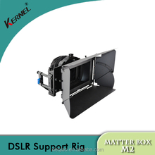 Kernel Matte Box Sunshade DSLR Rig Shoulder Mount Follow Focus Matte Box M2 for 15mm Rod System