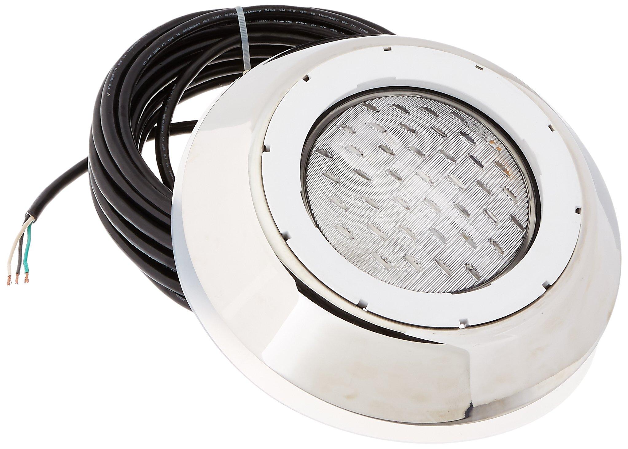 100-Watt Pentair 78873500 AquaLumin III Nicheless Vinyl Liner Pool and Spa Light 12-Volt 50-Feet Cord Length