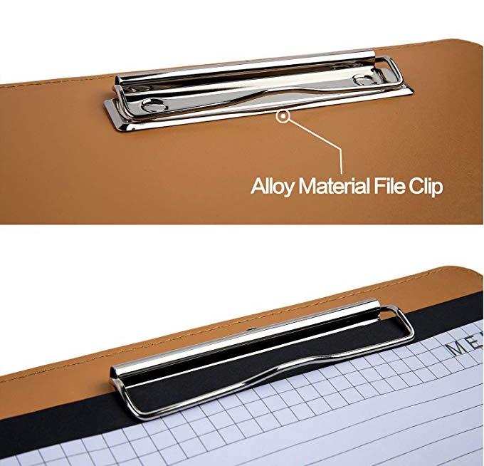 custom faux leather padfolio organizer portfolio folder with letter-sized writing note pad