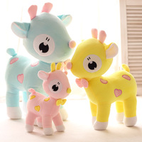 Color deer stuffed animal doll Spots sika deer plush toys for kids baby toys