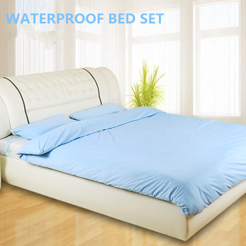 High Quality Custom Medical / Home / Hotel Waterproof Bed Set Quilt Cover Mattress  Protector Fitted Bed Sheet