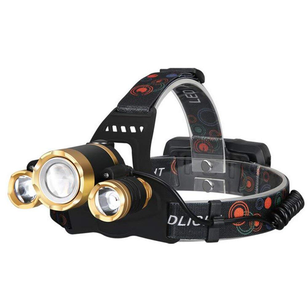 LAIABOR Super Bright LED Head Torch, Rechargeable Waterproof Focus Headlight,Headlamp Flashlight Torch For Camping Hunting Hiking Running Walking Cycling Outdoors Light