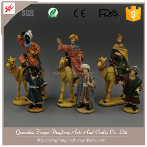 Poly Resin Nativity For Europe and American Polyresin Black Statues
