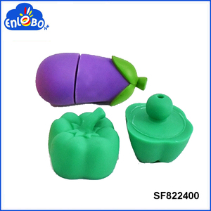 Baby safety diy vegetable vinyl block toy SF822400