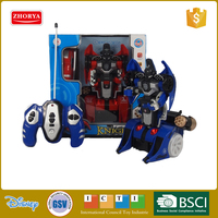 China cheap best selling boys cool radio control car electronic transform robot toys 2 modes remote control transform car toys