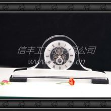 2014 simple design crystal clock souvenir