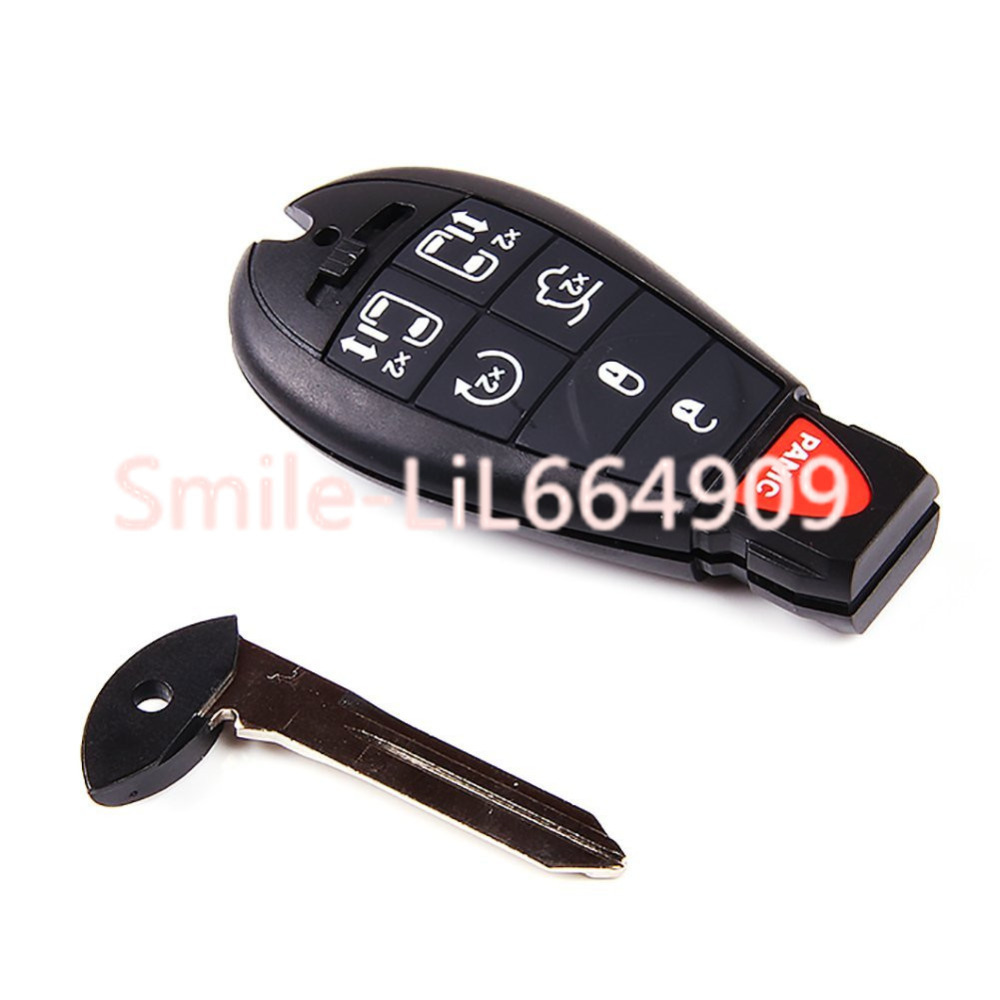 remote key fob shell case for chrysler town country dodge grand caravan keyless 7 buttons remote. Black Bedroom Furniture Sets. Home Design Ideas