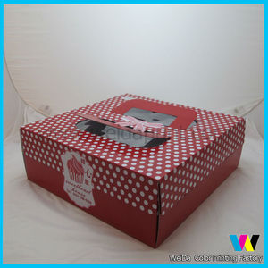 red dot paper cake boxes