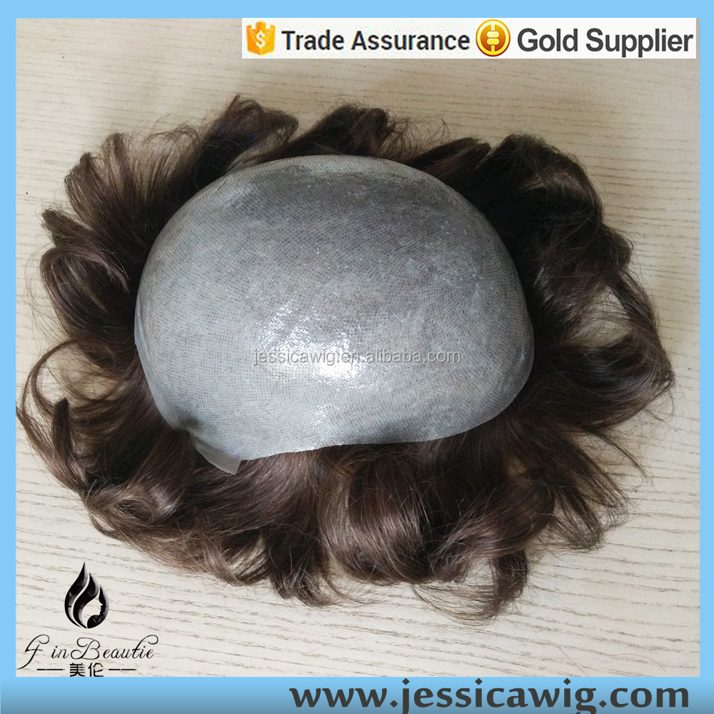 Undetectable base super thin skin men hair toupee
