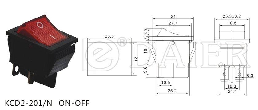 Kcd2    Illuminated       Rocker    Switch    4       Pin    Onoff 4pin On Off  Buy    Rocker    Switch    4       Pin    Onoff    4       Pin