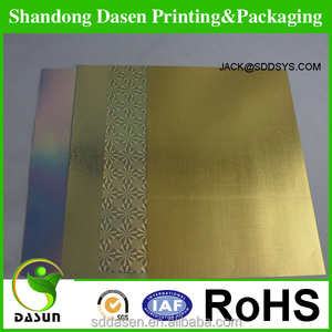 Holographic packing metallized paper cardboard