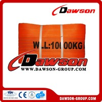 Synthetic Eye and Eye Flat Webbing Sling for Lifting