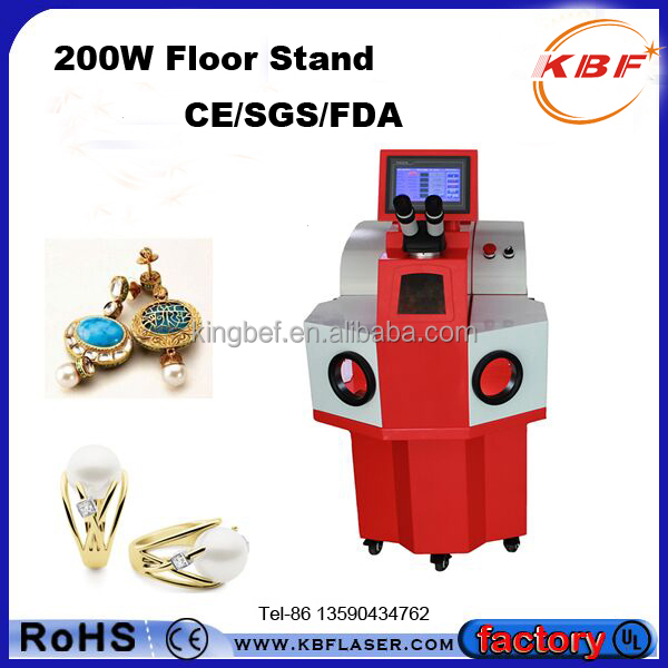 KBF Laser 100W 200W High Precision YAG Spot Jewelry Laser Welding Machine for Gold Silver