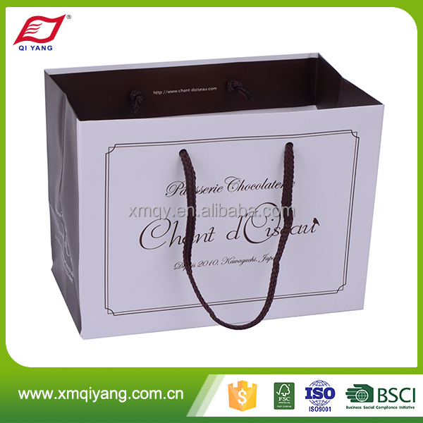 High quality reusable popular decorative paper bag design