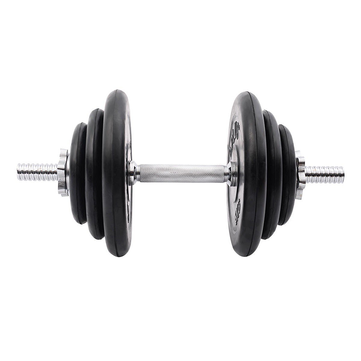 Weight Dumbbell Set 44 LB Adjustable Cap Gym Barbell Plates Body Workout - Weight Bar Of Durable Steel - Suitable For Basic Toning And Strength Exercises - Bars Are Able To Connect Securely