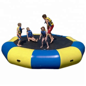 Hot sale water games high quality swimming pool trampoline