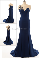 real design prom gown Elegant Sweetheart Off-shoulder Sexy Back with Tull Mermaid Women 2017 evening Dress AS407