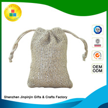 Hot selling linen sachets lavender jute bag for rice christmas