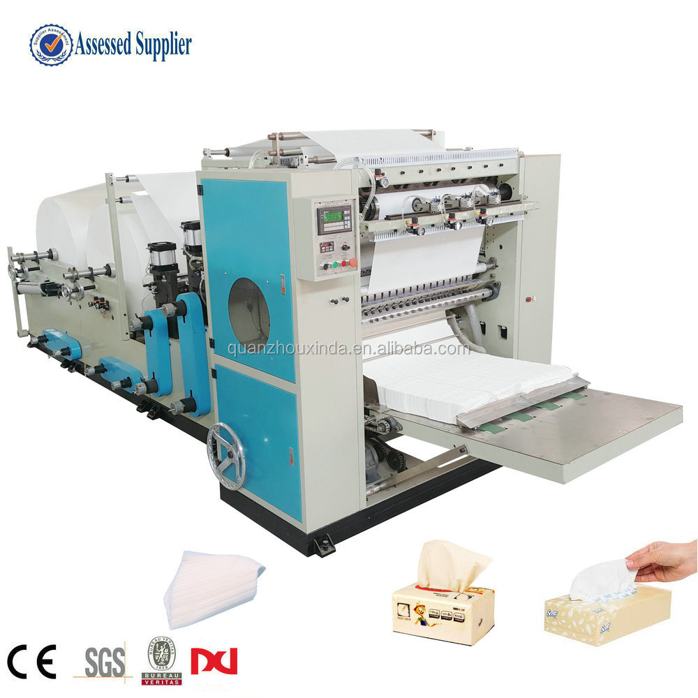 4 lines drawing fold facial tissue paper making machine