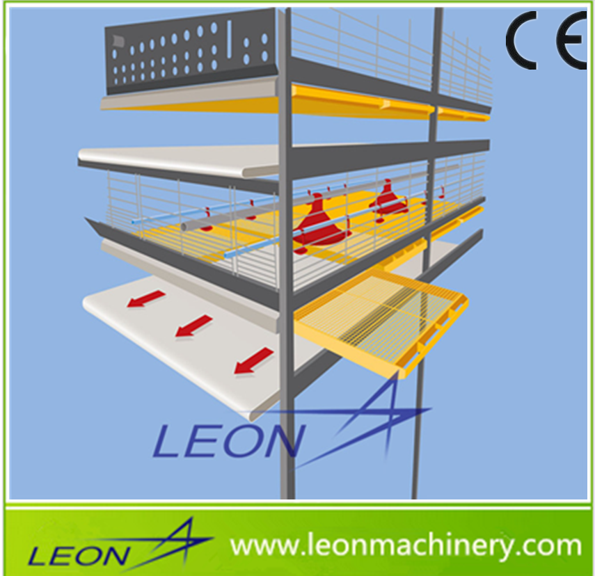 Leon 2017 New Design Battery Cage System for Broiler Chicken