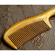 High quality tight tooth green sandalwood comb with thick and smooth, anti-static straight hair comb.