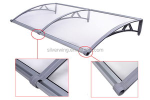 New design Polycarbonate Plastic awning with Big water gutter canopy sun shade awnings for Patio and Balcony and windows