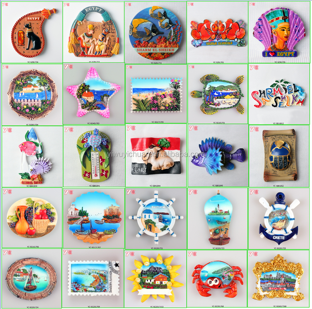 Fridge Stickers Yc16703 Turkish Resin Souvenir Fridge Magnet Alanya Stickers