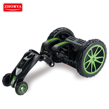 Zhorya kids small plastic battery operated 360 rolling toy rc extreme tornado tumble stunt car